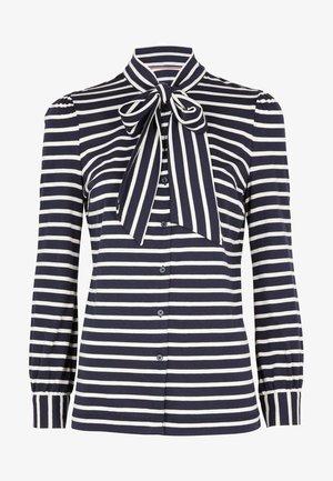 GABRIELLA  - Button-down blouse - navy/naturweiß