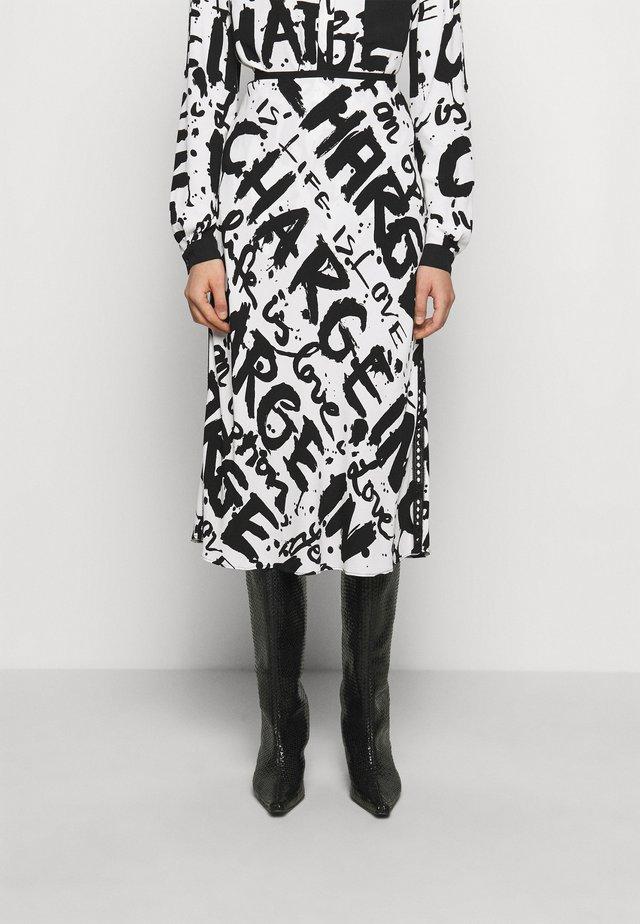 MAE - Áčková sukně - mantras ivory