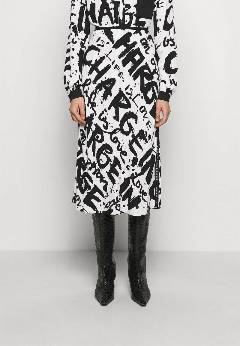 Diane von Furstenberg - MAE - A-line skirt - mantras ivory