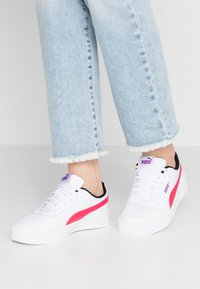 Puma - CARINA  - Trainers - white/energy rose - 0