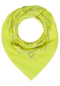 Vintage Supply - 2 PACK BANDANA - Foulard - neon yellow/white - 1