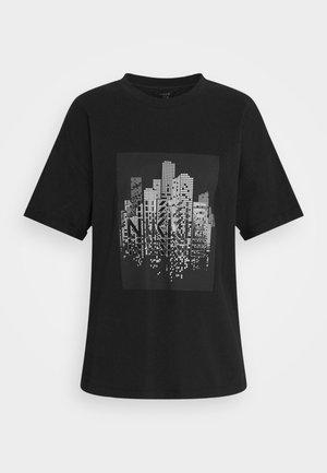 SKYLINE - Print T-shirt - black