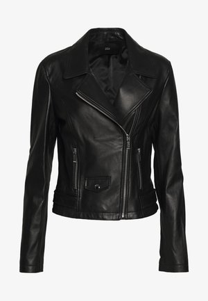 BROOKLYN LUXURY BIKER JACKET - Leather jacket - black