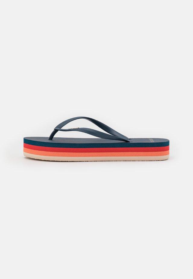 FRANKIE - T-bar sandals - blue