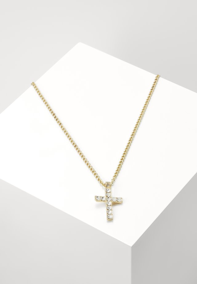 CROSS NECKLACE - Naszyjnik - gold-coloured