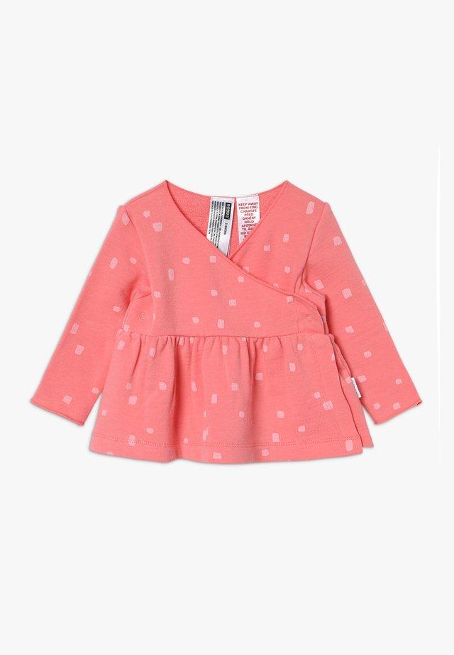 NEWBIES WRAP CARDI BABY - veste en sweat zippée - pink