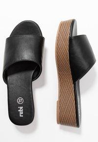 Rubi Shoes by Cotton On - PHOEBE FLATFORM - Heeled mules - black - 3