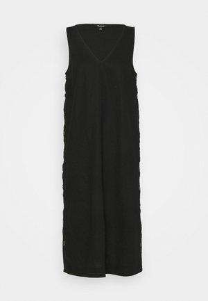 SHEATH MIDI SIDE BUTTON - Maxi dress - true black