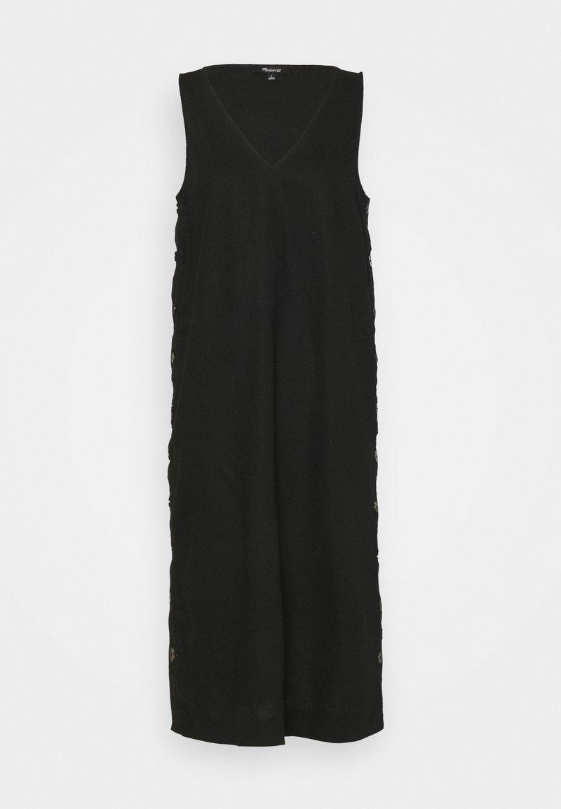 Madewell - SHEATH MIDI SIDE BUTTON - Maxi dress - true black
