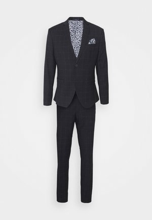 WINDOWPANE SUIT - Costume - blue