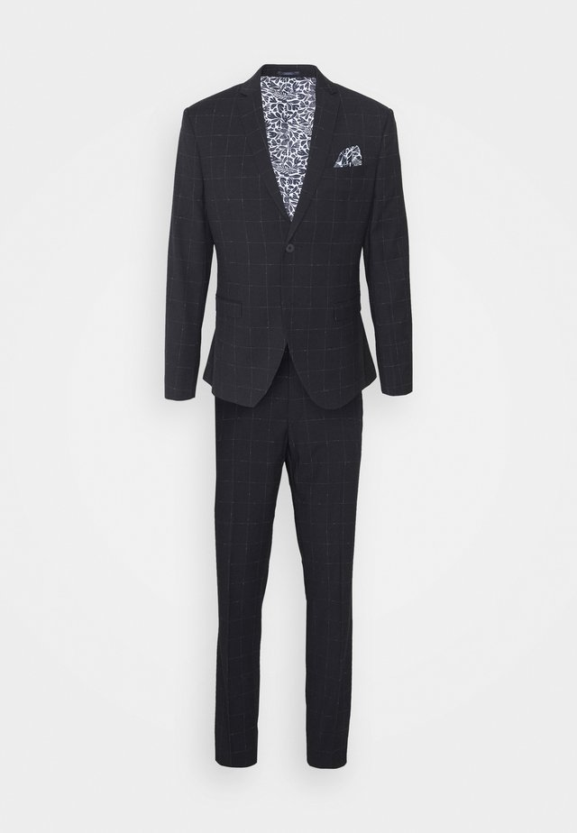 WINDOWPANE SUIT - Traje - blue
