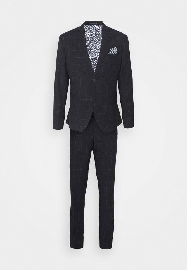 WINDOWPANE SUIT - Suit - blue