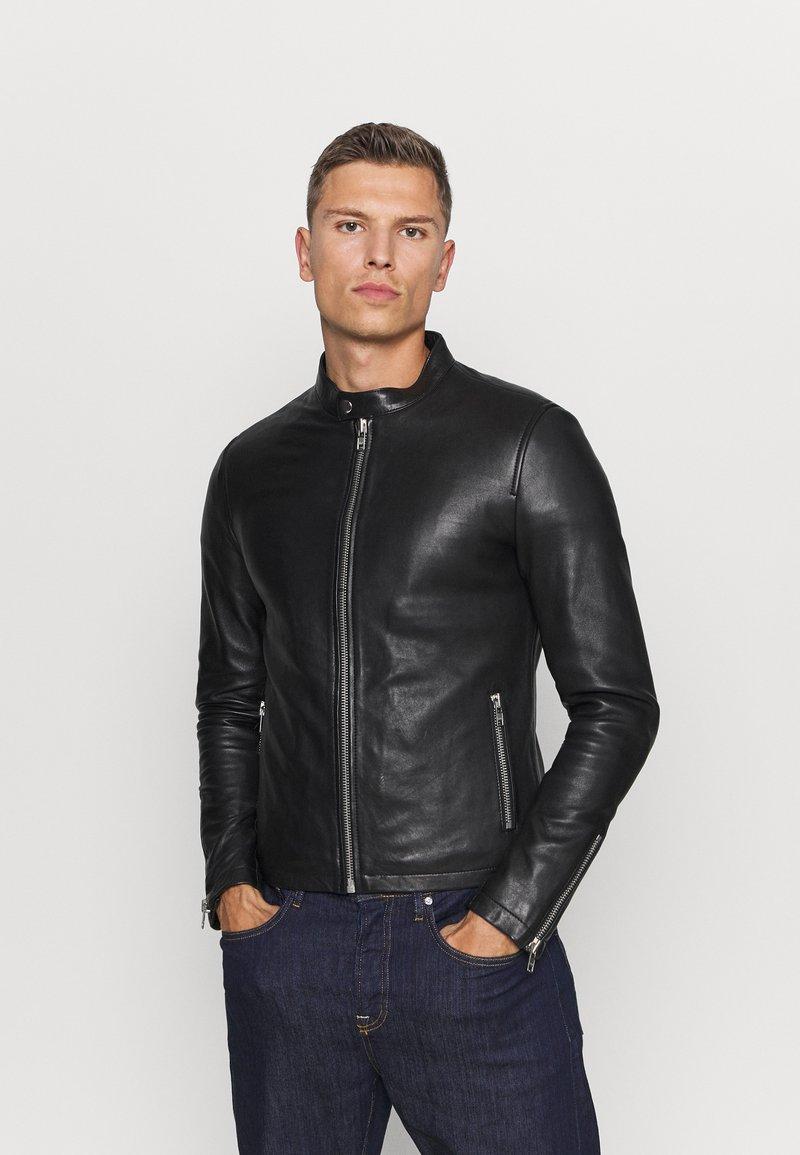 Serge Pariente - Leather jacket - black
