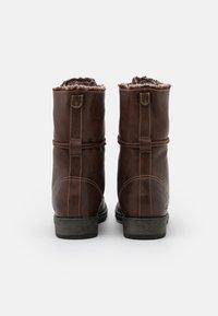 TOM TAILOR - Lace-up boots - cognac - 2