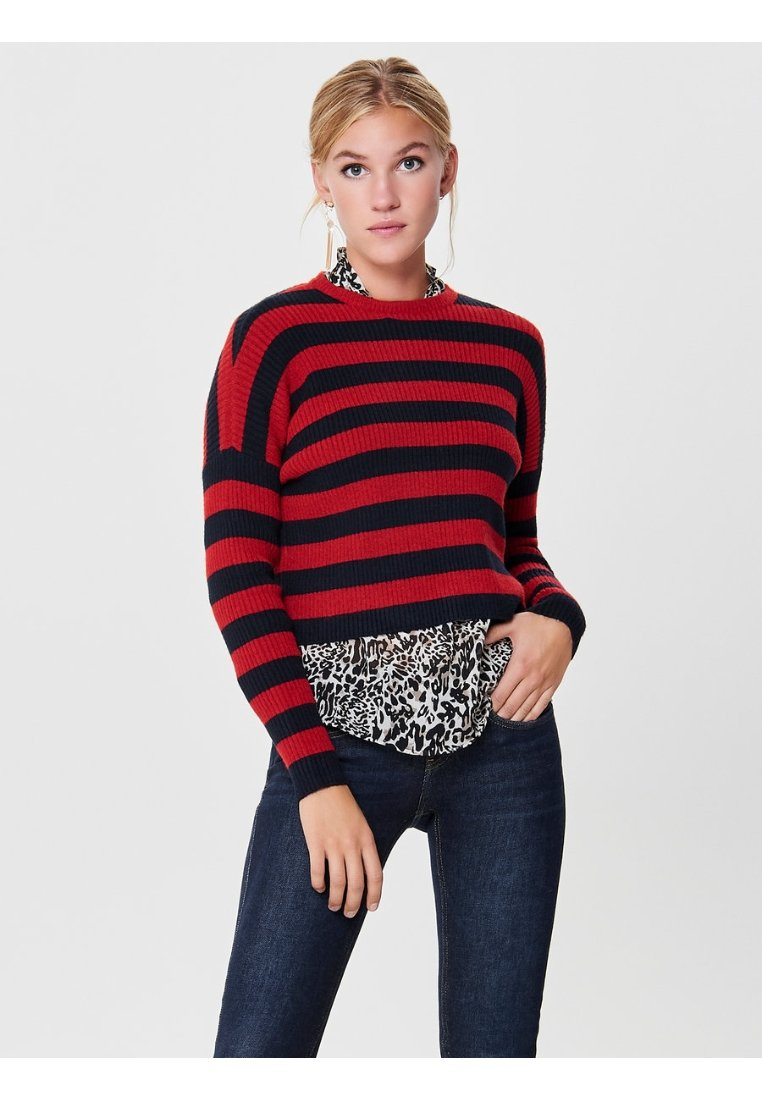 ONLY - Jumper - berry/black