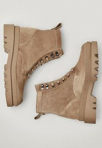 Massimo Dutti - Lace-up ankle boots - beige - 2