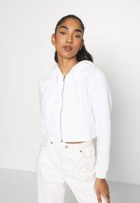 Monki - Zip-up sweatshirt - offwhite light - 0