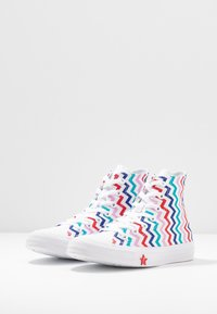 Converse - CHUCK TAYLOR ALL STAR - Baskets montantes - white/university red/peony pink - 4