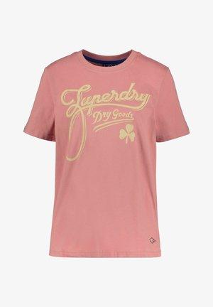 T-shirt med print - rose