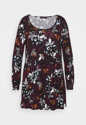 FLORAL POCKET TUNIC - Long sleeved top - multi
