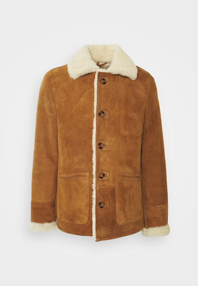 ARKANSOS - Leather jacket - rust