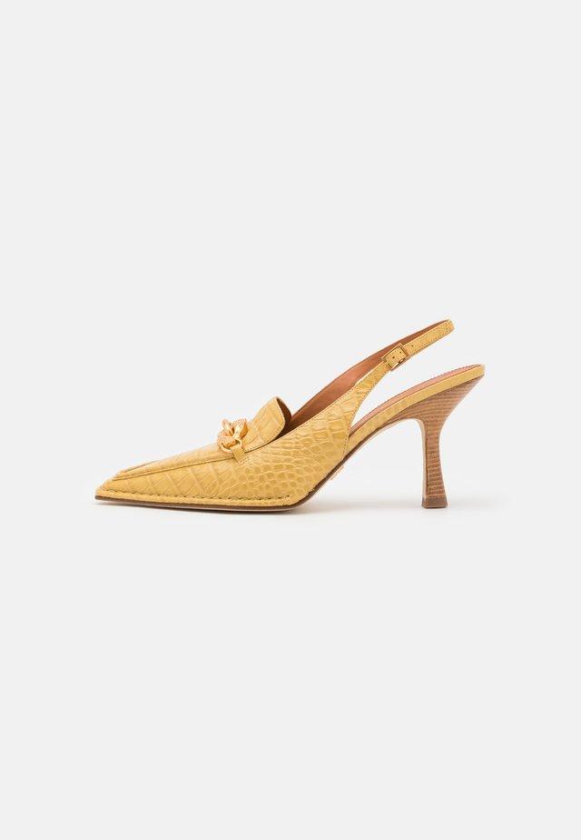 JESSA POINTY TOE SLINGBACK - Klassieke pumps - light yellow
