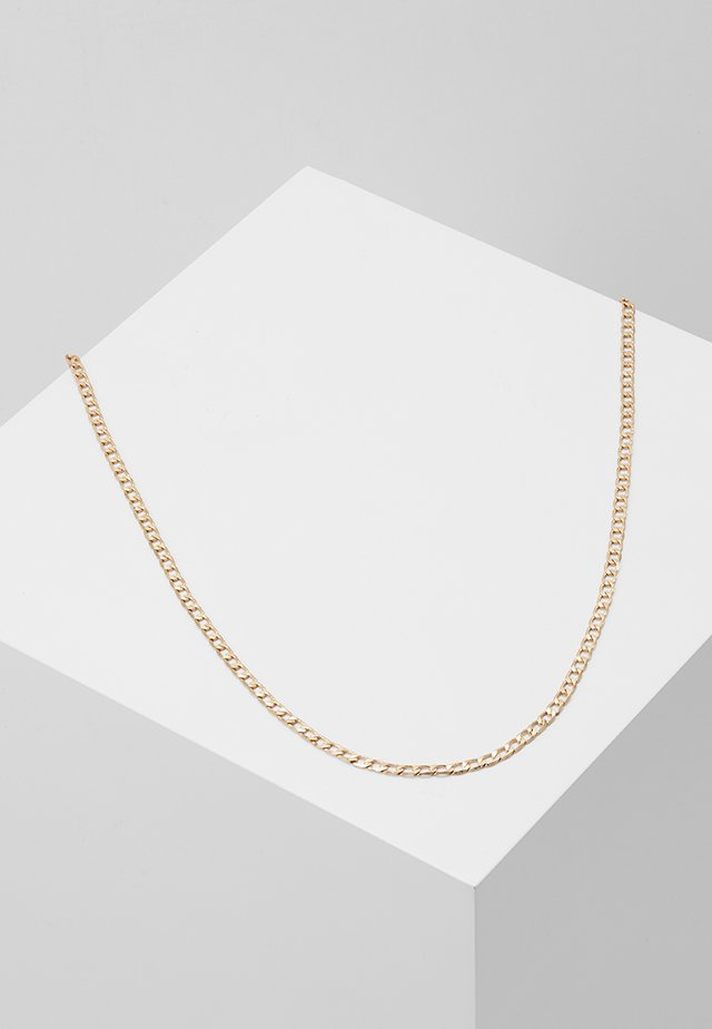 FLAT OUT CHAIN NECKLACE - Halskæder - gold-coloured