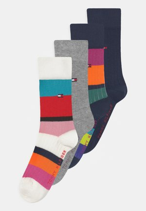 SEASONAL STRIPE 4 PACK - Socks - multi-coloured