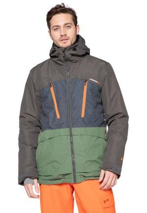 Snowboard jacket -  dark green/grey