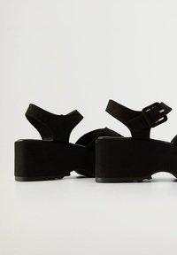 Mango - SPICY - Platform sandals - schwarz - 4
