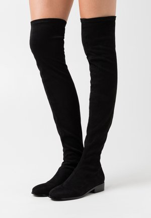 FLAT BOOT - Ylipolvensaappaat - black
