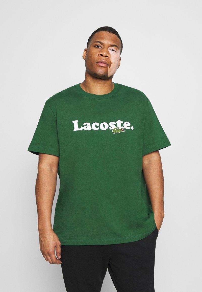 Lacoste - PLUS  - Print T-shirt - dark green