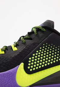 Nike Performance - MAMBA FURY - Koripallokengät - black/lemon/psychic purple - 5