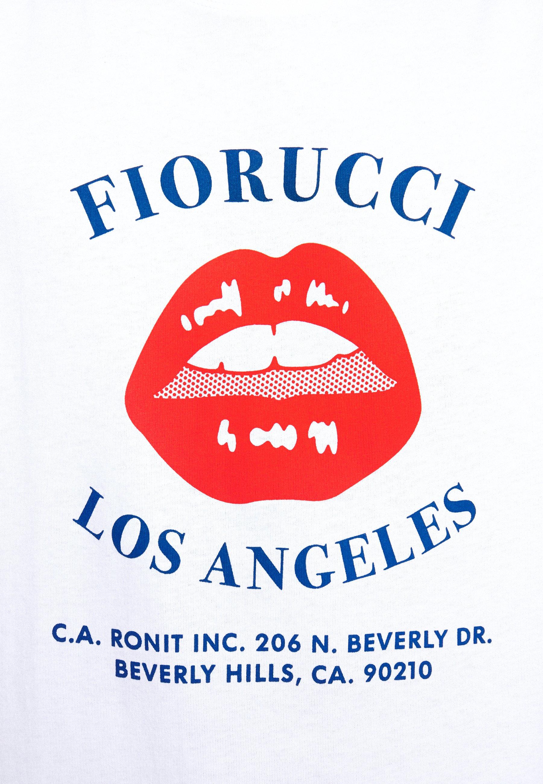 Zakup Gorąca wyprzedaż Fiorucci LIPS TEE - T-shirt z nadrukiem - white | Odzież męska 2020 YEOl1
