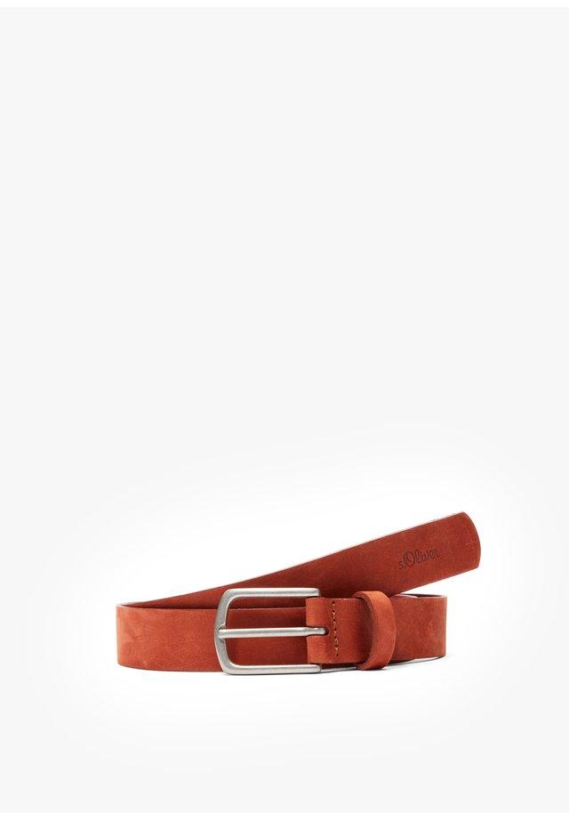 GÜRTEL AUS LEDER - Belt - burnt orange