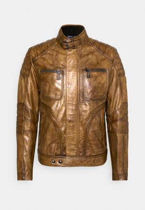 WEYBRIDGE JACKET - Kožená bunda - burnished gold