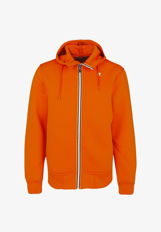 RAINER SPACER - Zip-up hoodie - orange rust