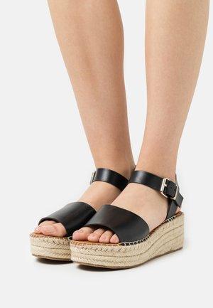 ABEARITH - Sandály na platformě - black