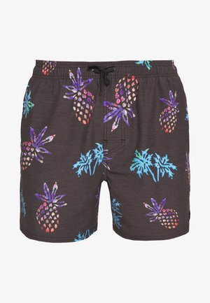 TROPICAL VIBES VOLLEY - Swimming shorts - washed black