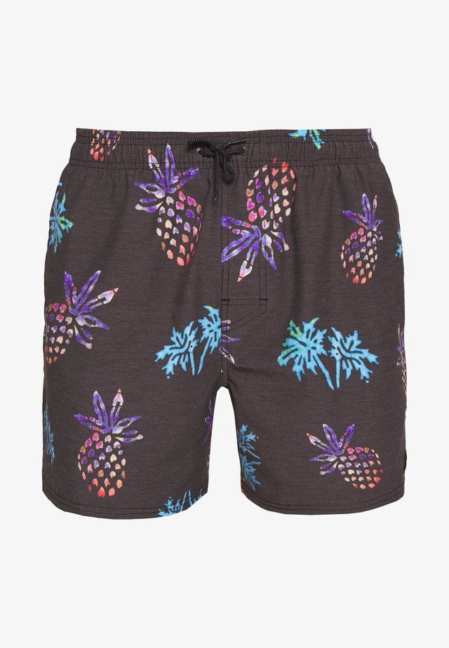TROPICAL VIBES VOLLEY - Shorts da mare - washed black