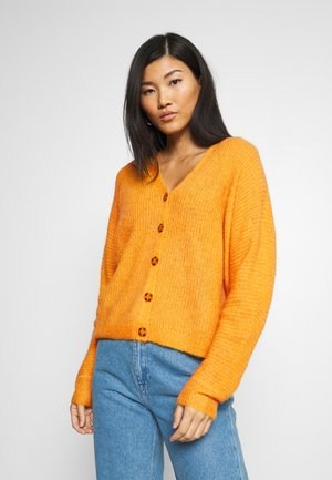 V NECK CARDIGAN - Cardigan - honey yellow