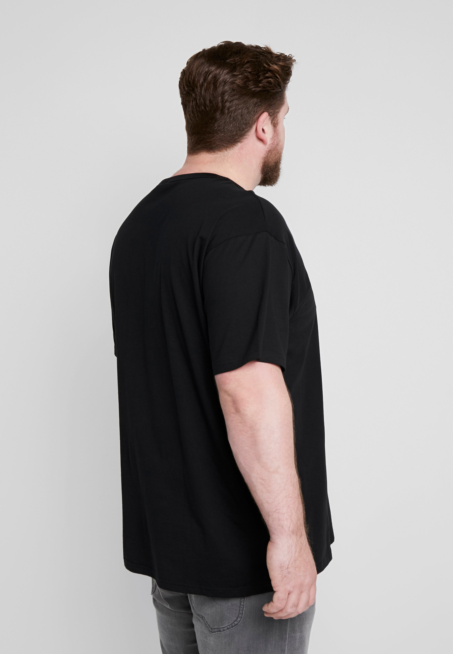Urban Classics BASIC TEE PLUS SIZE - Basic T-shirt - black tiIgA