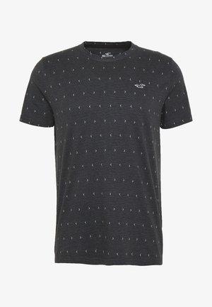 CREW YOKE BLOCK - T-shirt con stampa - black