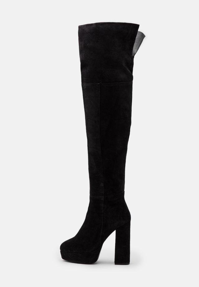 LEATHER - Botas de tacón - black
