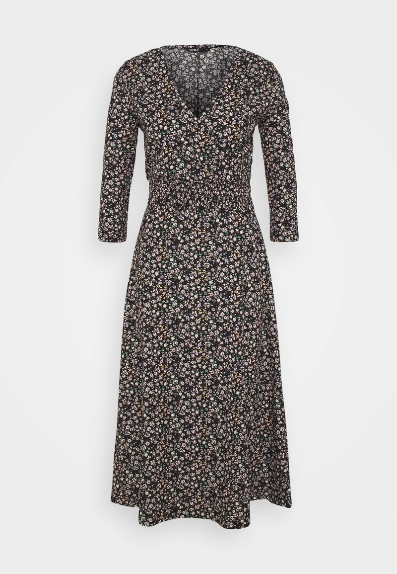 ONLY - ONLZILLE NAYA 3/4 DRESS - Denní šaty - black
