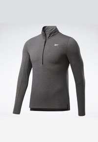 Reebok - ACTIVCHILL+COTTON TRAINING 1/4 ZIP - Sweatshirt - black - 7