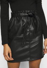 ONLY Petite - ONLRIGIE PAPER BAG SKIRT - Pencil skirt - black - 4