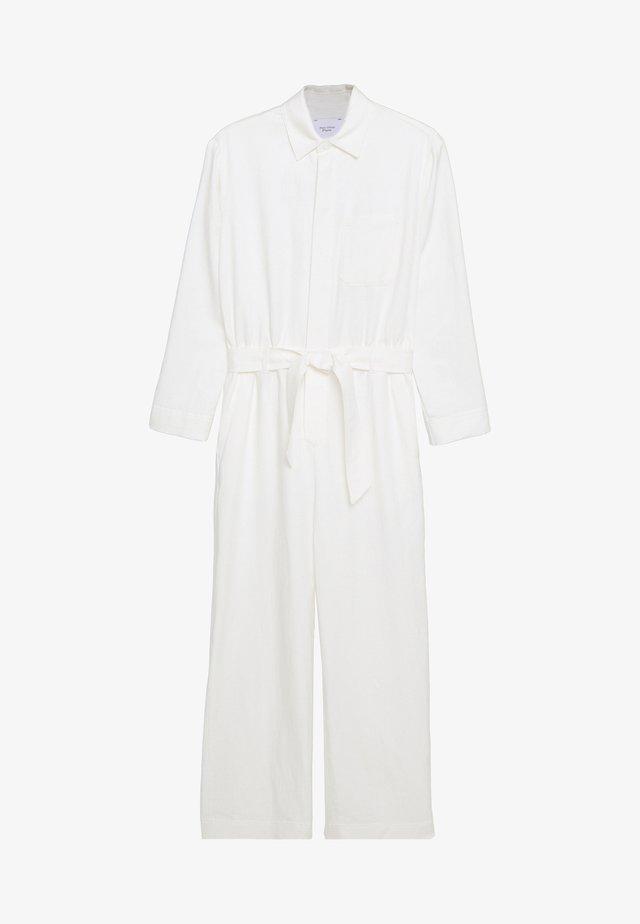 MIJA OVERALL REGULAR WAIST WIDER SLEEVE - Jumpsuit - clear white