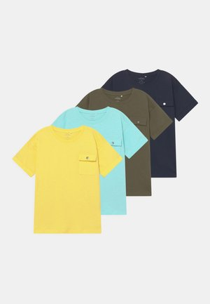 NKMVEBBE 4 PACK - Basic T-shirt - blue tint