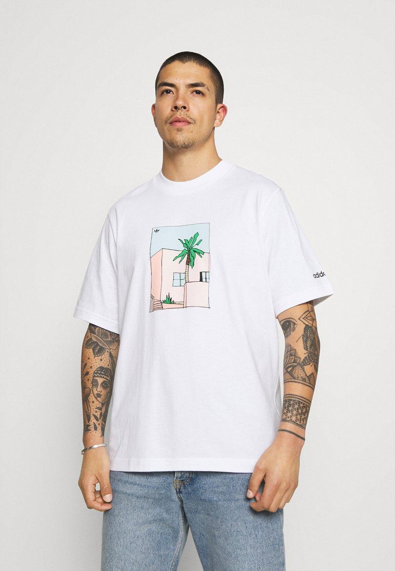adidas Originals - HAND DRAWN TEE - Print T-shirt - white